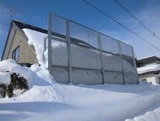 フェンス 個人宅雪止柵